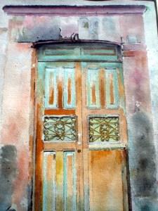 Door into courtyard