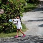 Yao Yao on Harbour Island, Bahamas