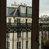 A View from the Hotel in Paris