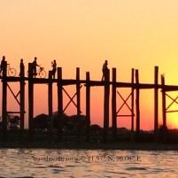 Sunset at U Bein Bridge Mandalay, Myanmar