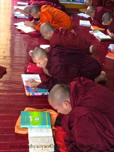Studious Monks in Mandalay