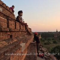 Child at Sunset in Bagan