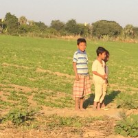 Burmese Children on the Irrawaddy River