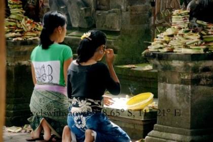 Offerings to Hindu Gods in Bali