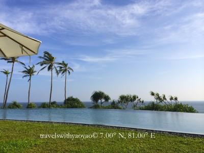 Poolside at Cape Weligama, Sri Lanka