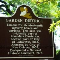 Garden District in New Orleans