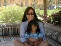 Yao Yao & Mom in Carmello, Uruguay