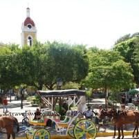 Piazza in Granada, NIcaragua