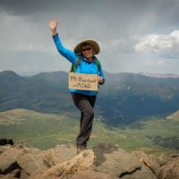 Reaching the summit of Mt. Bierstadt, we are nearly half way to Everest!