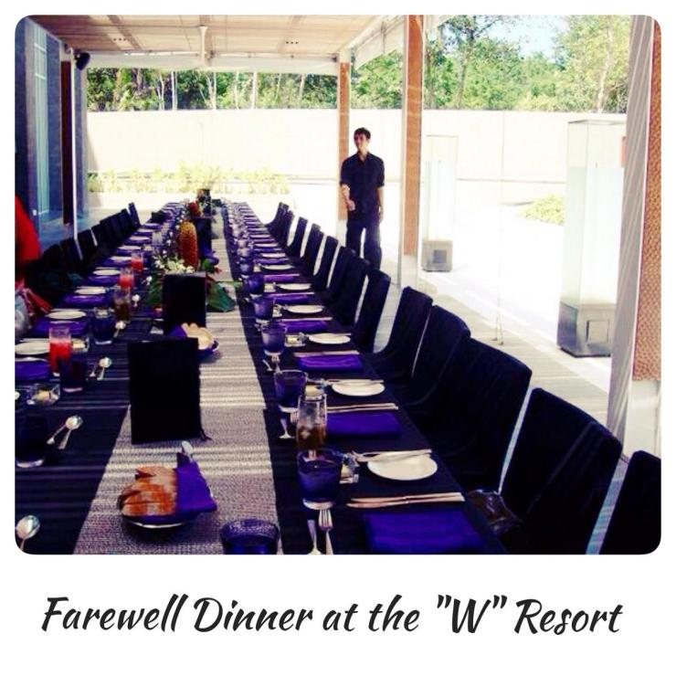 Dinner at the W Resort Bali NHTV