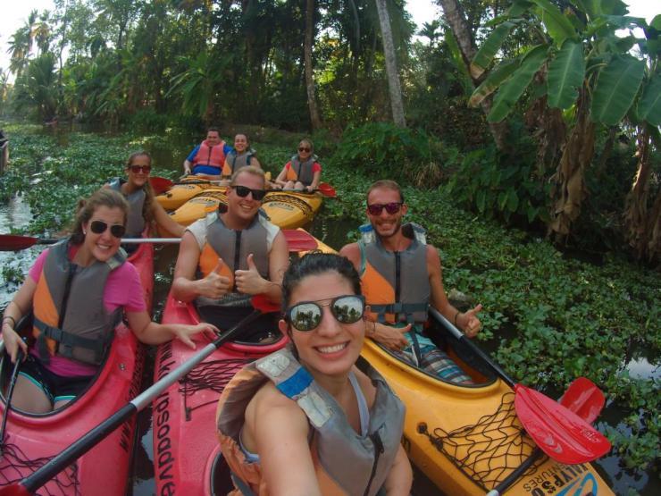 kayaking backwaters kerala