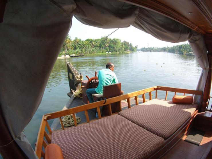 Kerala backwaters on a housebaot