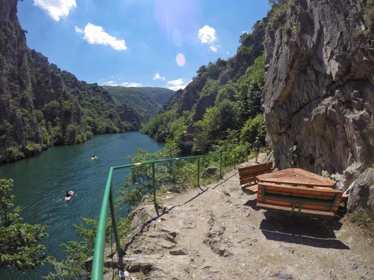 Matka Canyon bei Skopje in Mazedonien