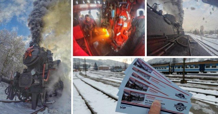 Winterurlaub in Tschechien - Dampflok