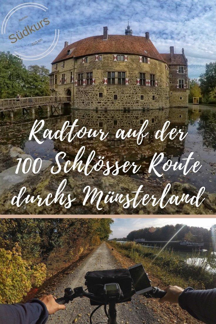 Radtour entlang des Südkurses der 100 Schlösser Route durchs Münsterland