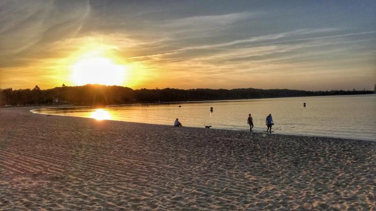 Sonnenuntergang Schweriner See