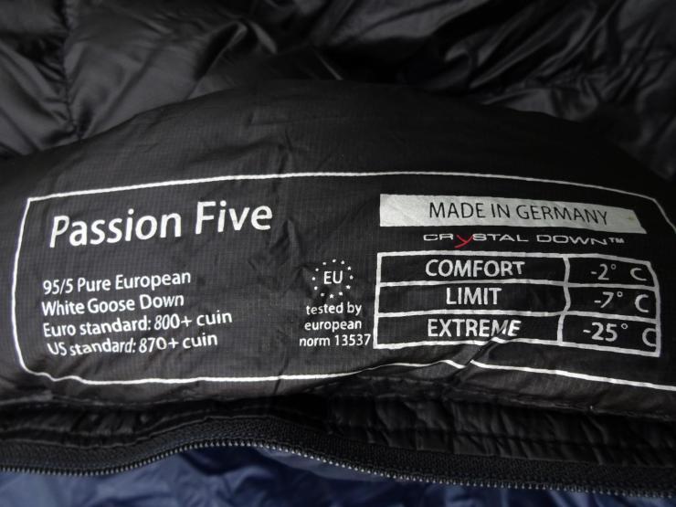 Yeti Passion Five Daunenschlafsack Test