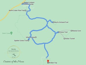 Craters of the Moon Attractions Map