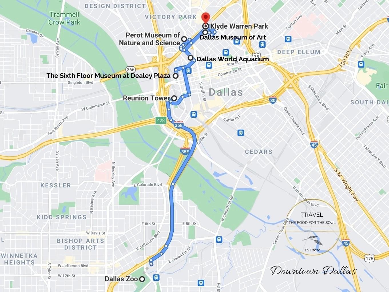 Dallas Attractions Map