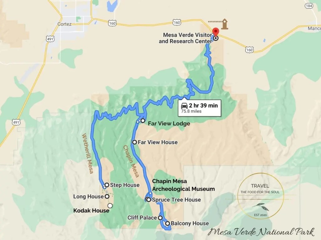 Mesa Verde National Park Attractions Map The Ultimate Guide To Mesa Verde