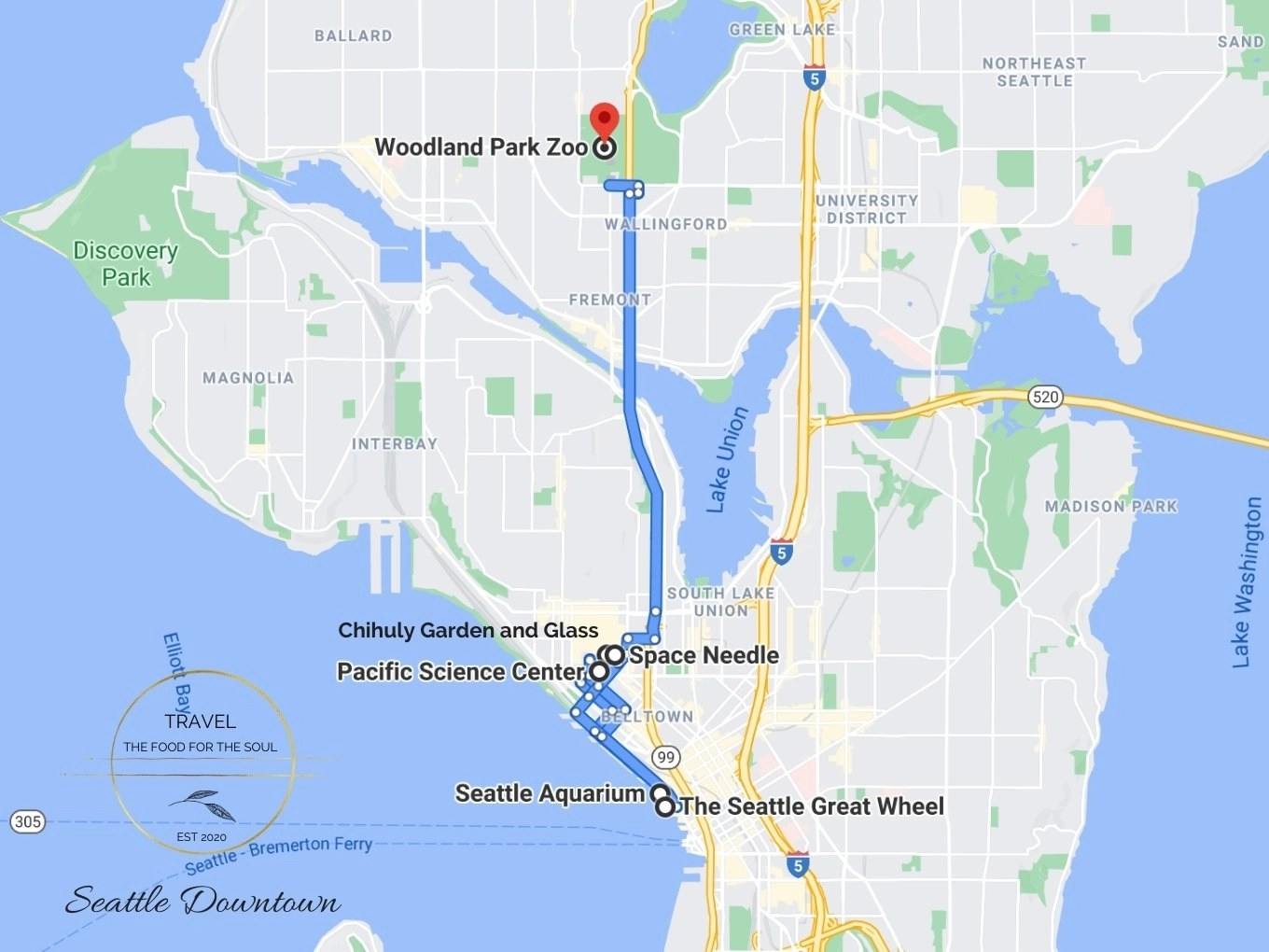 Seattle Attractions Map