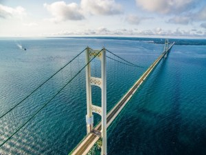 Mackinac Bridge   Upper Peninsula of Michigan