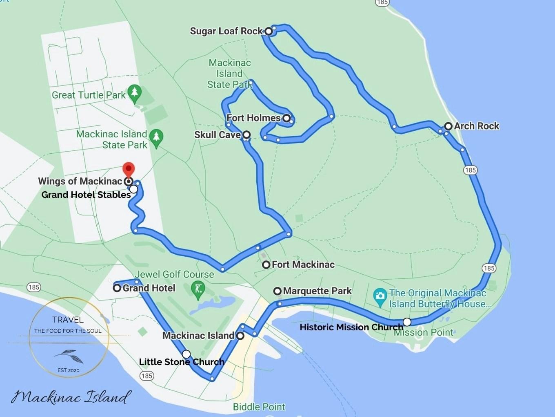 Mackinac Island Attractions Map