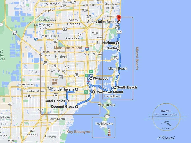 Miami Attractions Map