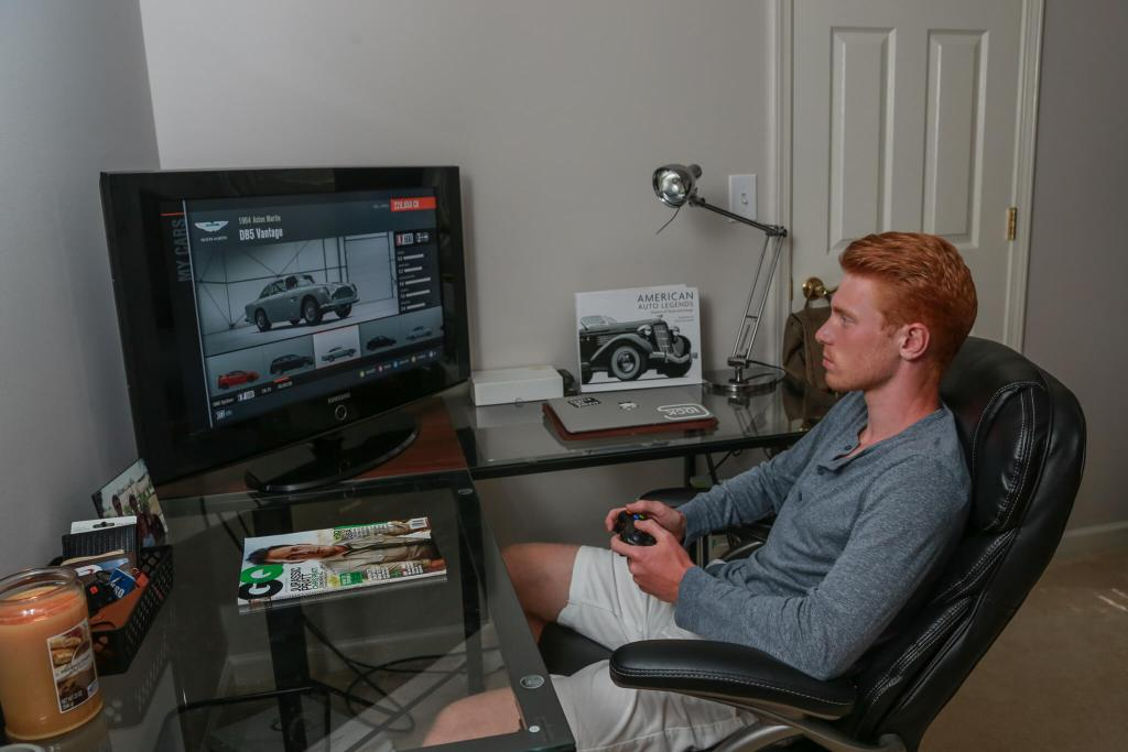 My oldest son on his xbox