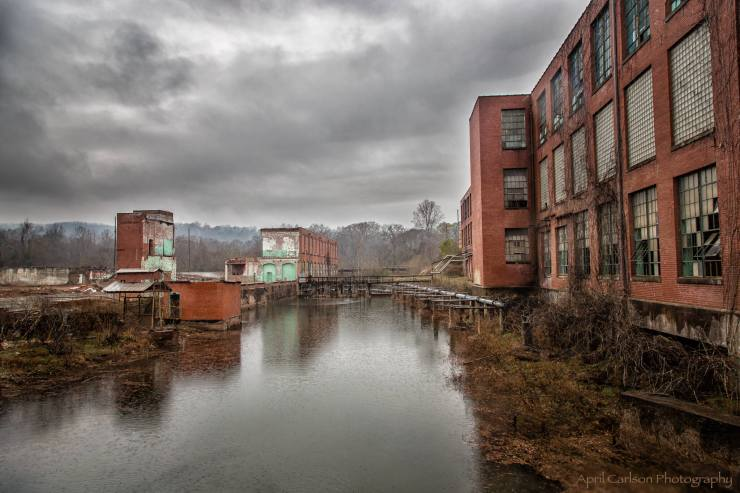 Photographing Lindale Mill: View Through the Window
