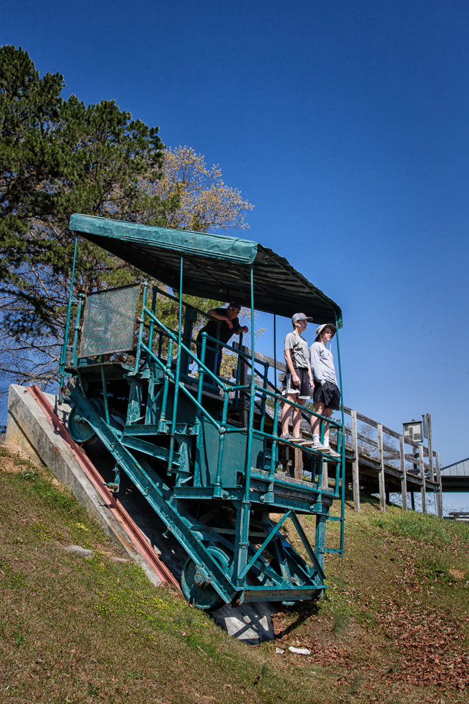 Hiking Tallulah Gorge: Incline Rail System used to build dam