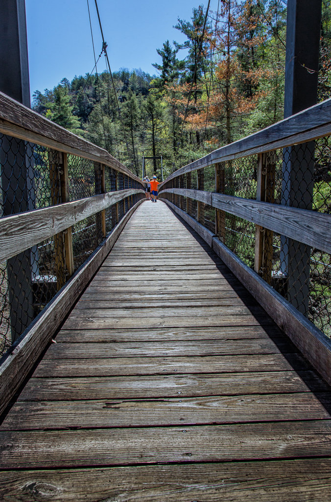 Hiking Tallulah Gorge: Swing Bridge