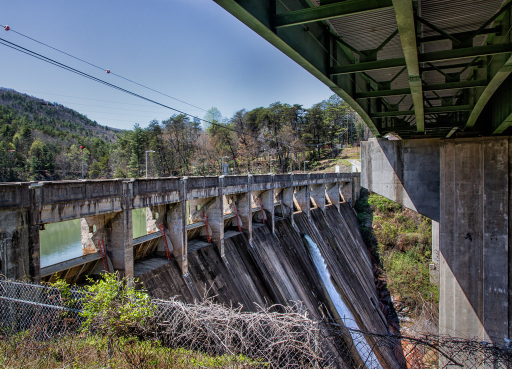 Hiking Tallulah Gorge: Dam