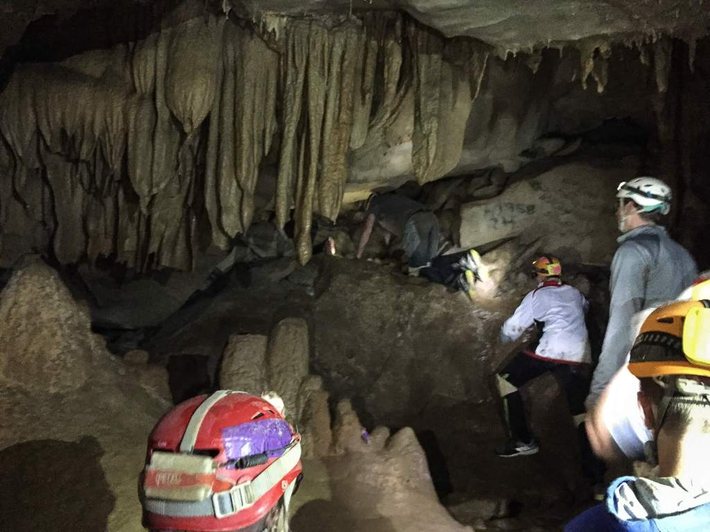 Caving at Cloudland Canyon: Squeeze Challenge in Cave