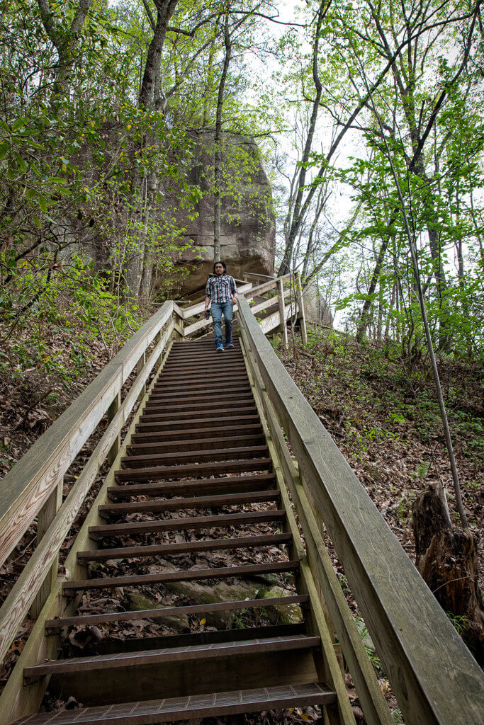 Visiting Cloudland Canyon State Park: Stairs on Trial