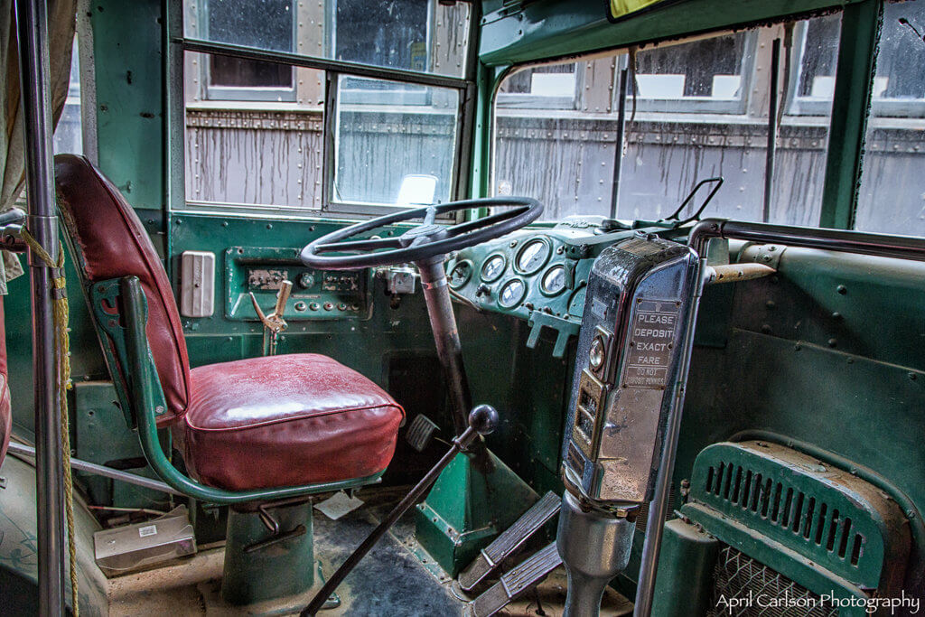 Touring Southeastern Railway Museum: Bus Driver's Seat