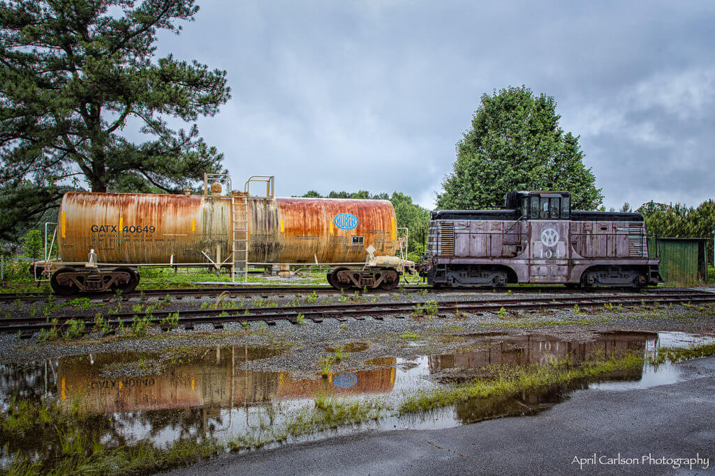 Touring Southeastern Railway Museum: Reflection of Railway Cars