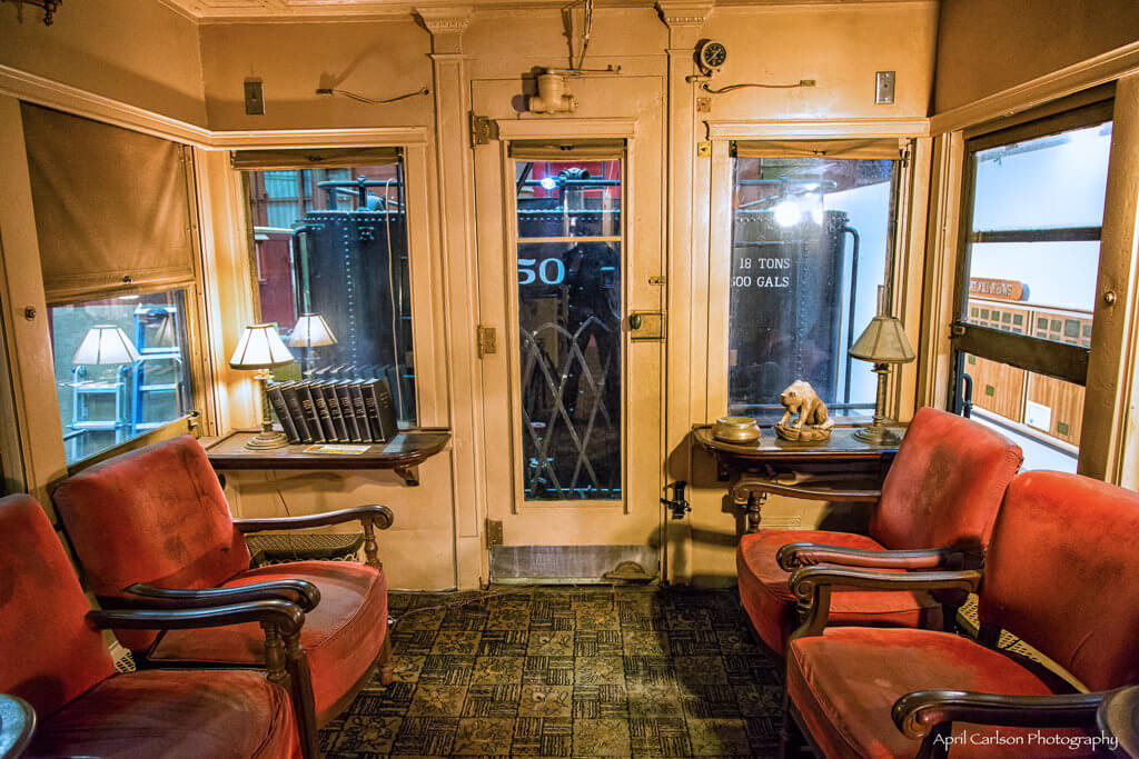 Touring Southeastern Railway Museum: Inside Lounge Car