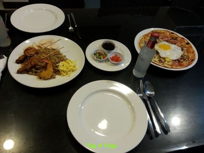 Room service from the Terraces Restaurant at Sanur Paradise Plaza Suites