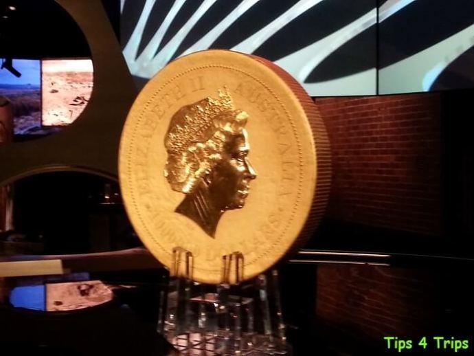 The kangaroo Coin seen during a Perth Mint Tour