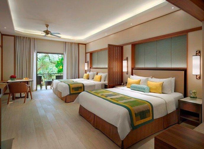 The family rooms and facilities at Penangs Shangri-la rasa Sayang Resort