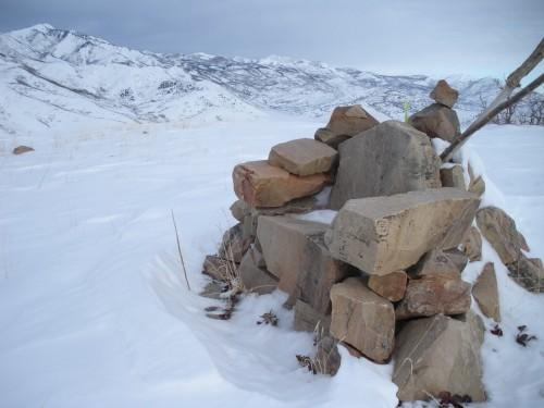 winter peak bagging utah