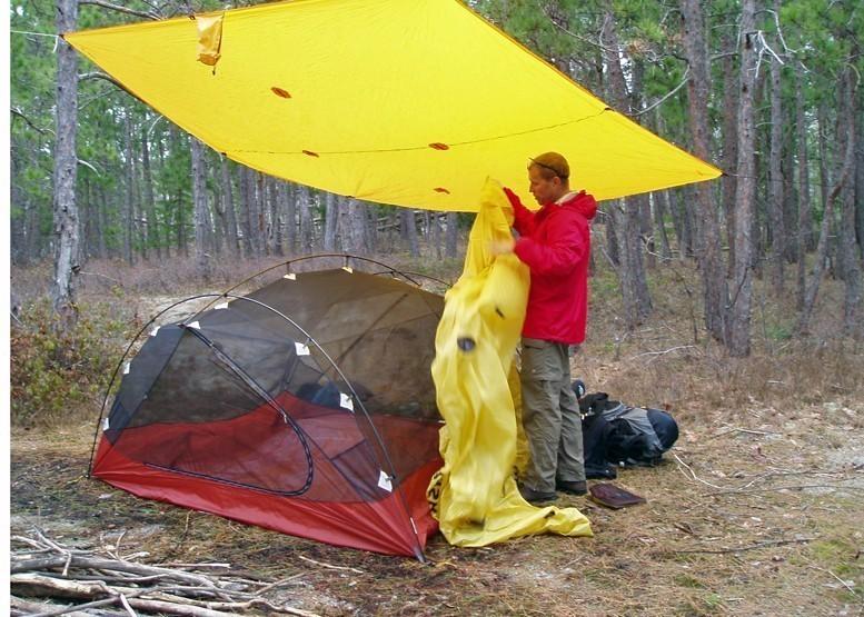 rain camping