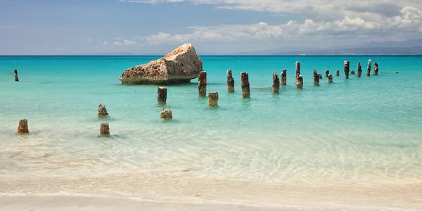 The old dock at Playa Pelicanos on Isla Caja de Muertos Nature Reserve.