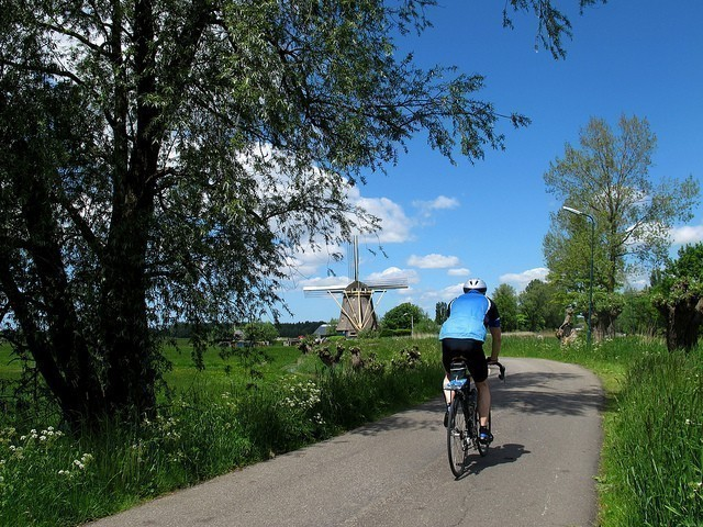 netherlands countryside cycling