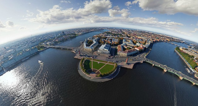 Hot Air Balloon Rides Over St. Petersburg