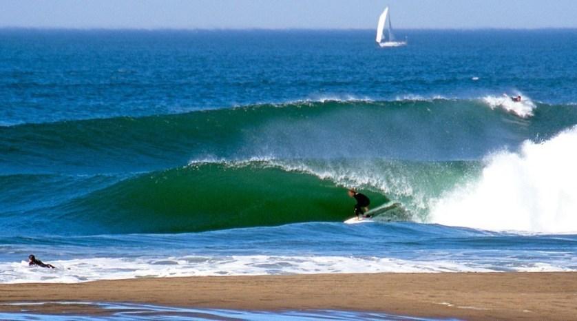 Surfing At Ocean Beach, San Francisco