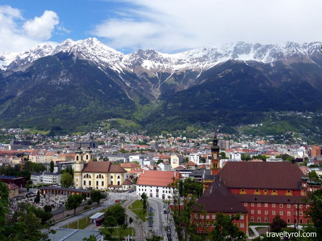 View from Bergisel over Innsbruck.