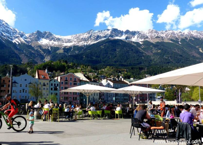 View from the Innsbruck market square