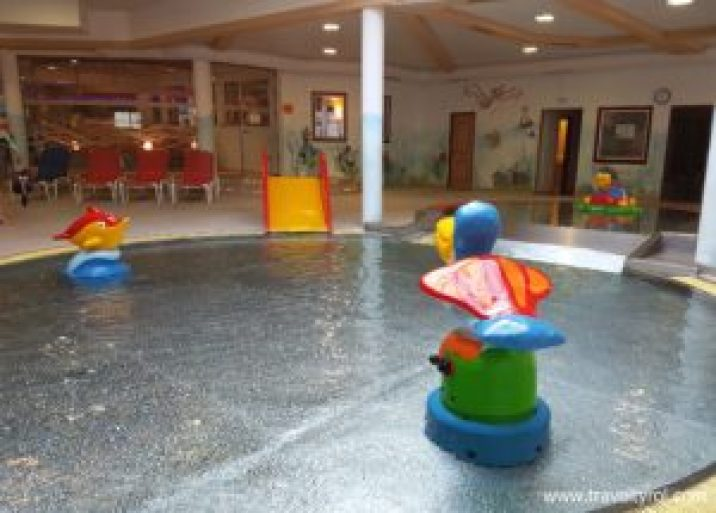 Baby and toddler pools in Camping Aufenfeld, Zillertal, Austria.